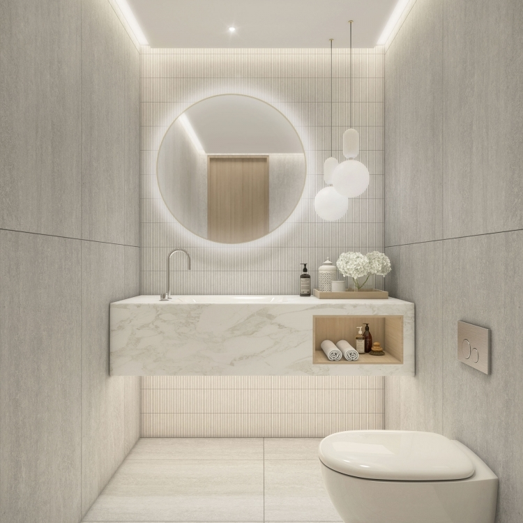Balmoral PowderRoom Stone option