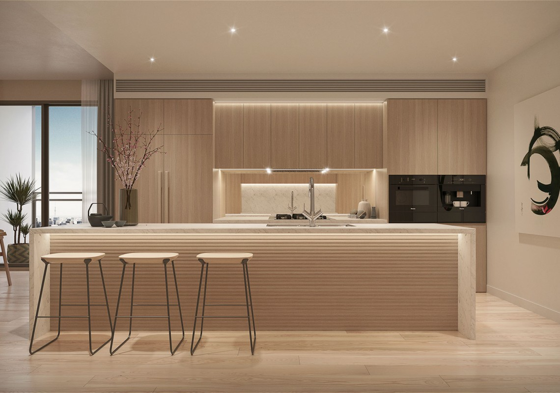 Shinagawa Penthouse interiors