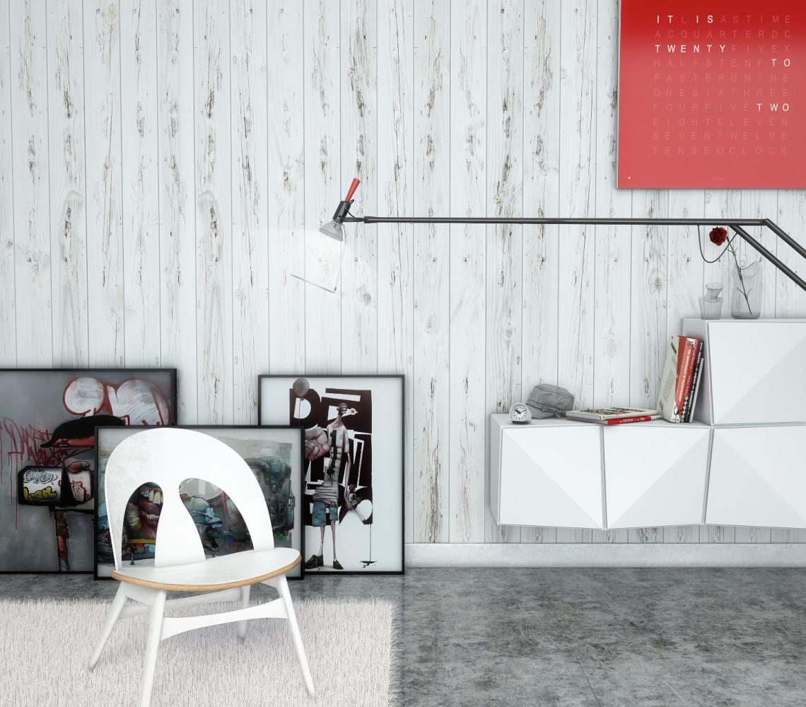 Chair, light & canvas